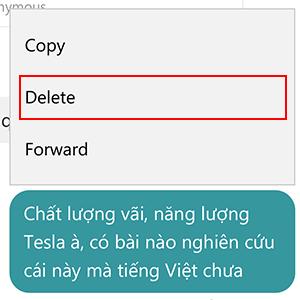 Cách xóa từng tin nhắn Messenger