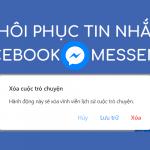 Khôi phục tin nhắn Messenger Facebook 2018