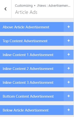 Vị trí đặt quảng cáo bài viết của Jnews