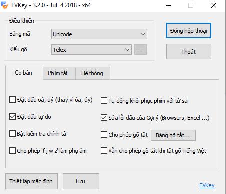 Cài đặt phần mềm gõ tiếng Việt EVkey